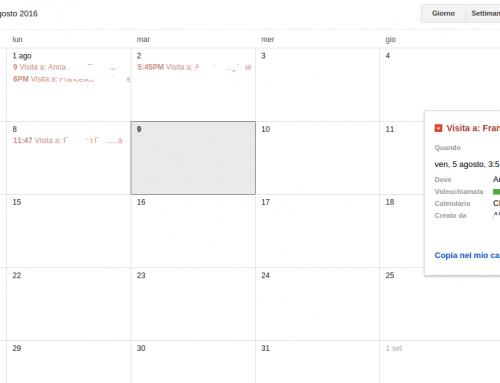 Google Calendar, integrazione